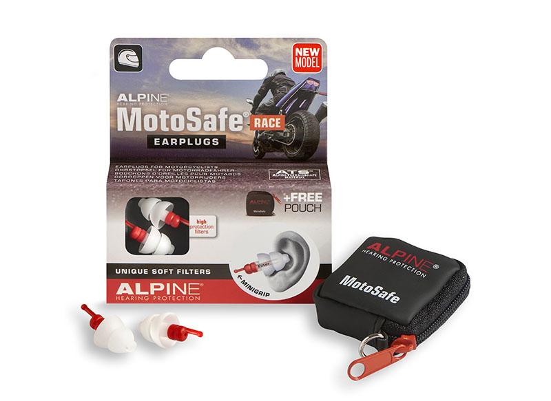 Alpine MotoSafe Race špunty do uší pre motorkárov