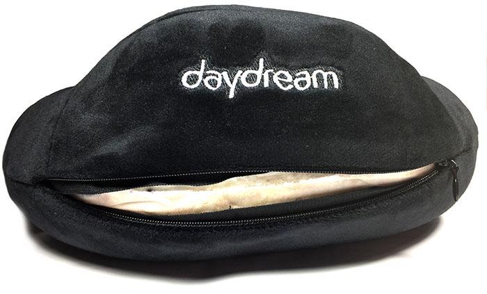 Cestovní polštář z paměťové pěny Daydream Basic Plus černý povlak