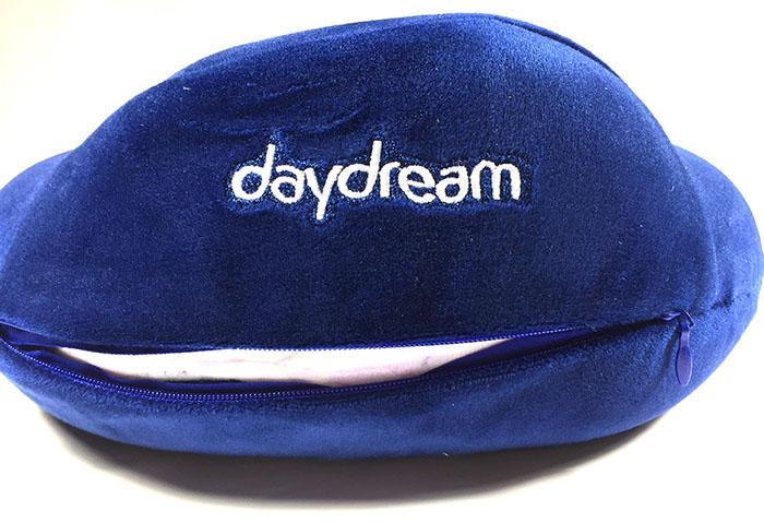 Cestovní polštář z paměťové pěny Daydream Basic Plus Blue povlak