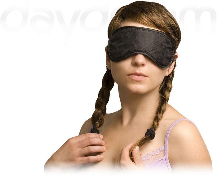 Daydream Paisley Black Maska na oči na spaní