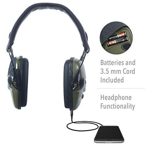 Howard Leight chrániče sluchu Impact Šport zelený slúchadlá