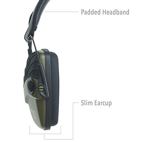 Howard Leight chrániče sluchu Impact Šport zelený zo strany