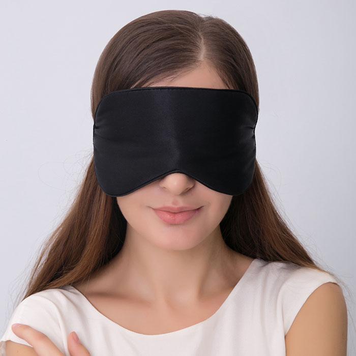 Masha Dark in here Prémiová Saténová maska na oči na spanie na očiach 2