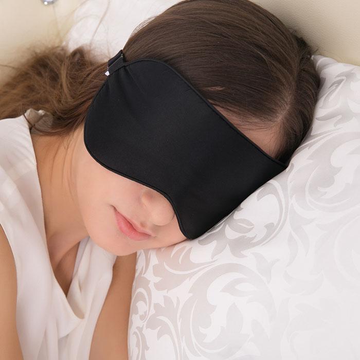 Masha Dark in here Prémiová Saténová maska na oči na spanie na očiach