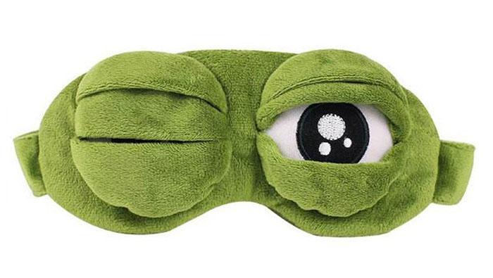 Maska na oči na spanie Suspicious frog