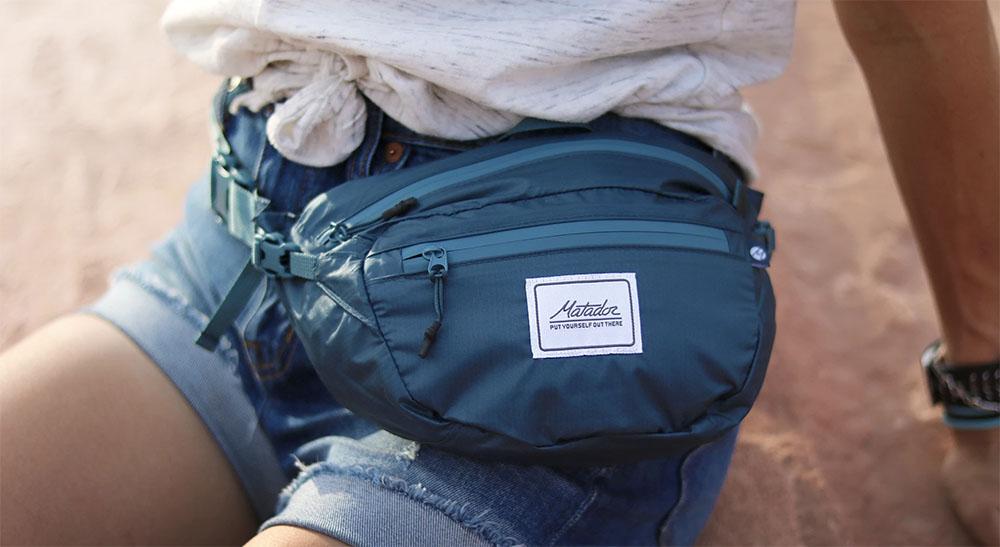 Matador skladacie ľadvinka Hip Pack šortky