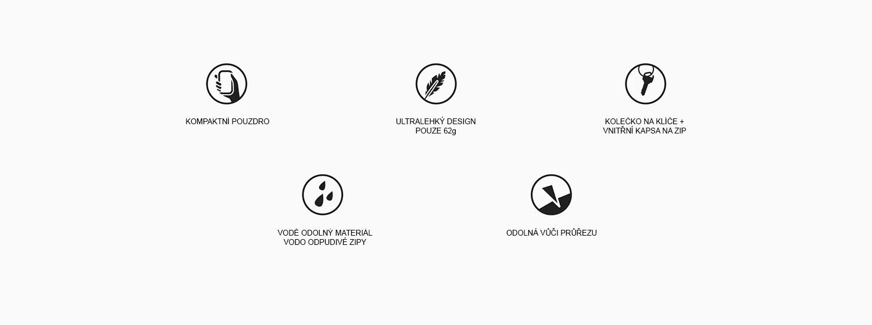 Matador skladacie ultraľahká ľadvinka Hip Pack kľúčové vlastnosti
