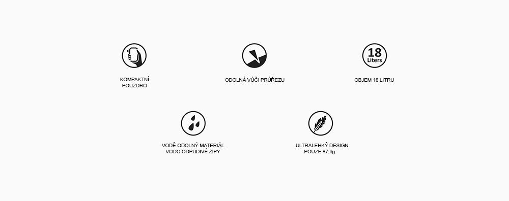 Matador ultraľahká skladacia taška cez rameno Transit Tote kľúčové vlastnosti